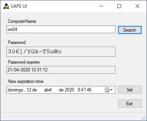 WS04's LAPS password.