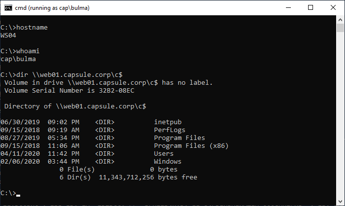 Bulma listing C$ share of Web01.